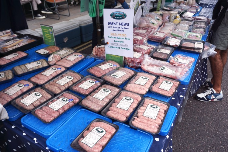 Gluten free sausages at Broadway Market | gluten free Broadway Market guide | Hackney, London