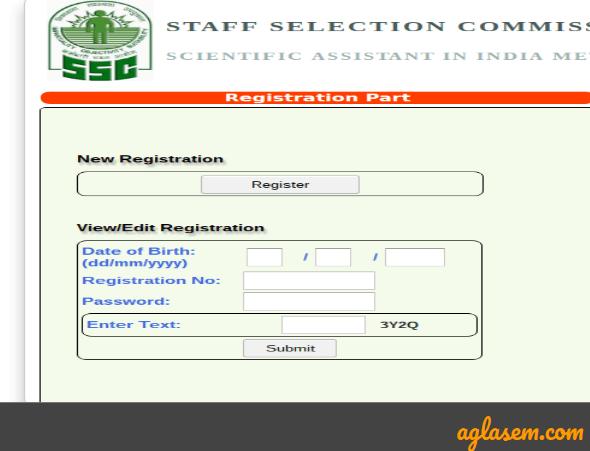 SSC Scientific Assistant Application Form 2021