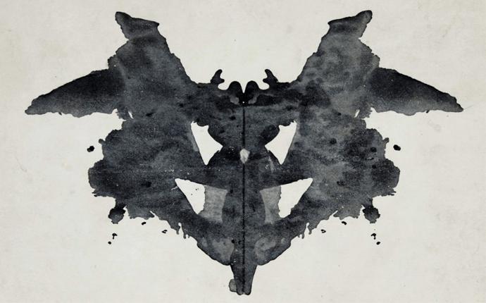 """""""Lamina I"""": la primera de las diez láminas que componen el test de Rorschach. En un principio estuvo compuesto por 15 pero tras debatirlo con la editorial, se decidió reducir su número."""