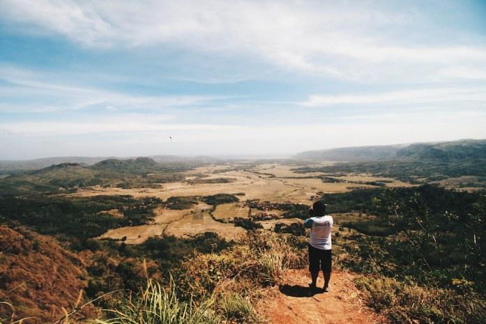 Pemandangan dari Panenjoan Geopark Ciletuh