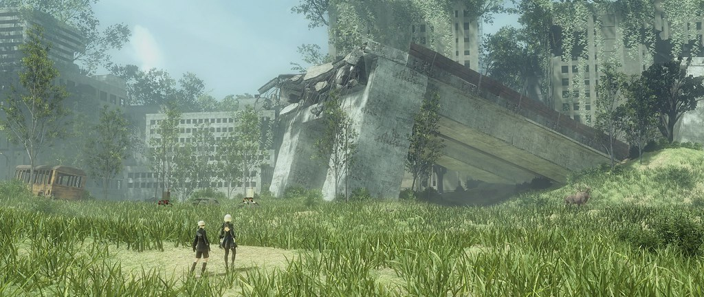 City Ruins  NIER AUTOMATA  from 14MP rendering