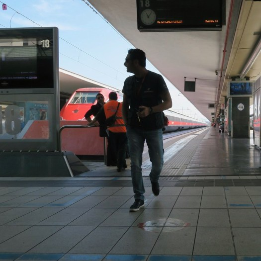 Silhouette of Man in Train Station
