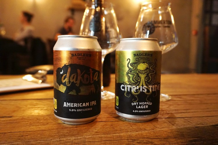 Gluten free beers from House of Hammerton |Saldler's Dakota & Citrus Tine | Islington | Holloway