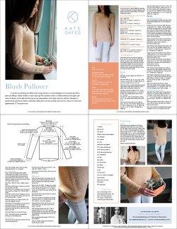 Kate Oates Pattern Format Blush Pullover