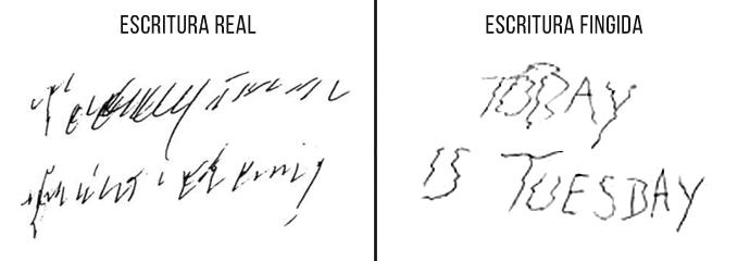 Escritura de una persona con Parkinson vs Escritura con temblores fingidos. Grafología