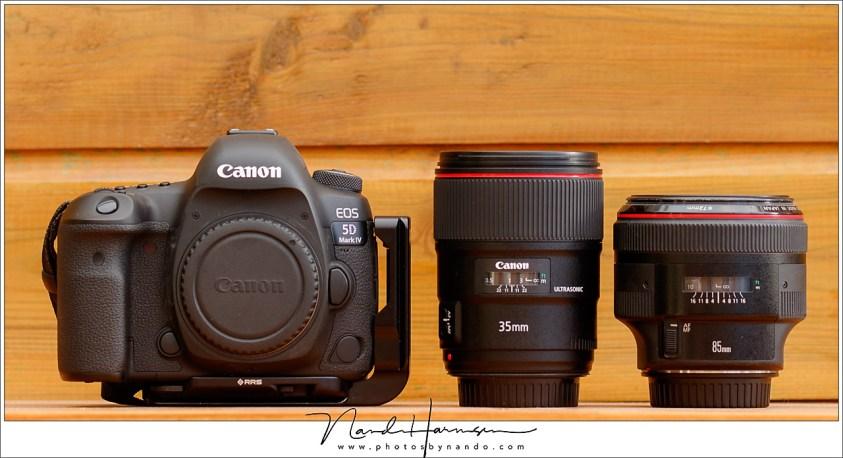 Een 35mm en 85mm objectief is een gouden combi voor portretten. Het vaste brandpunt geeft grotere lensopeningen dan een zoom objectief.
