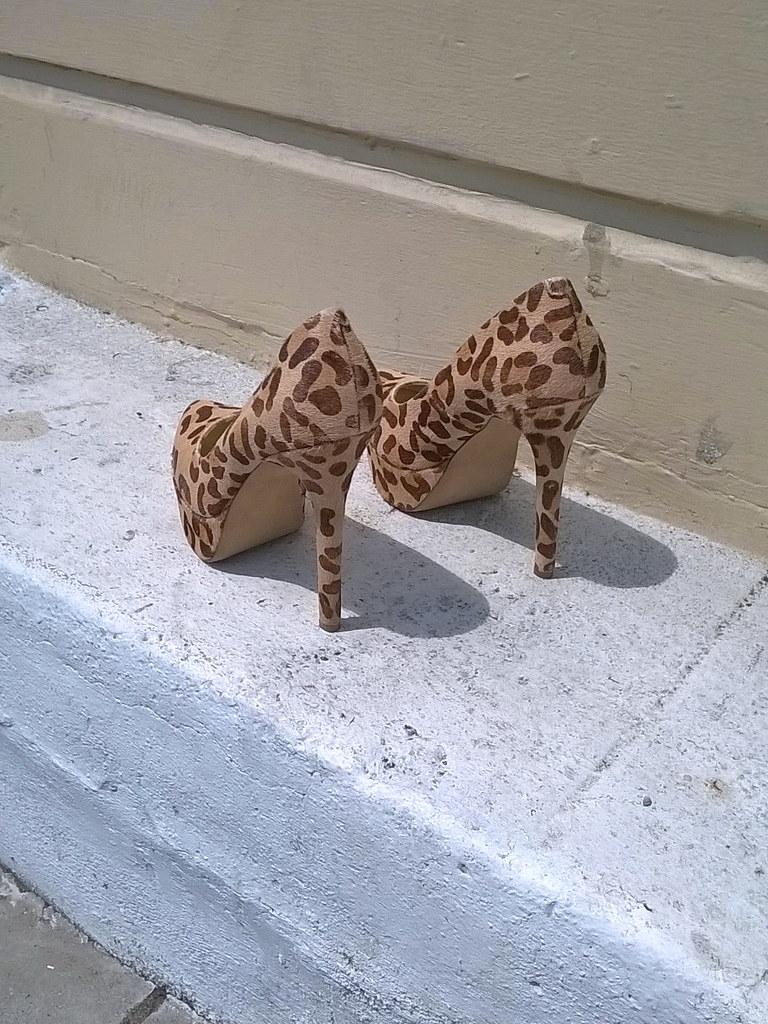 An Offering for Saint Eartha Kitt  Abandoned shoes seen