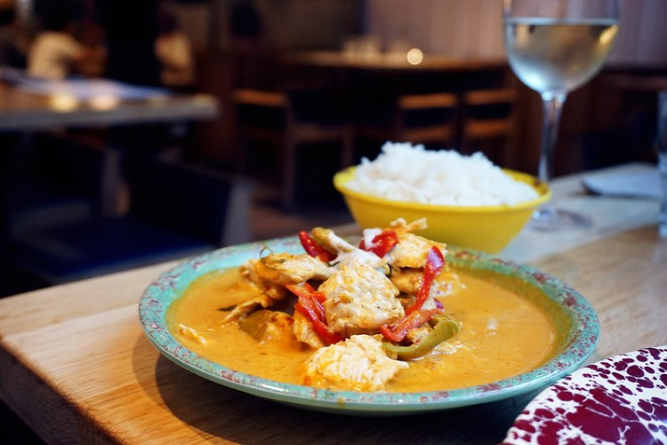 Red curry from Rosa's Thai Cafe | Gluten free Shoreditch guide | Gluten free London | Brick Lane | Old Street | Spitalfields | Hoxton | East London