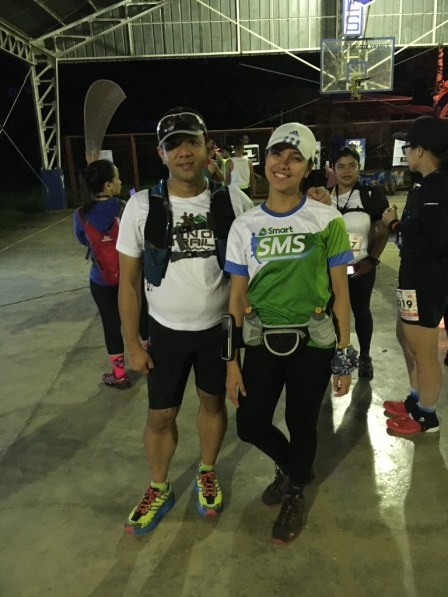 Trail Chick Maica of Team Smart joined us in the run.