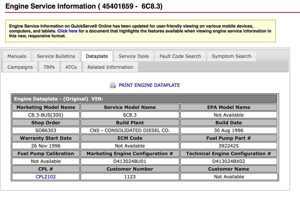 Cummins Engine Serial Number Decoder