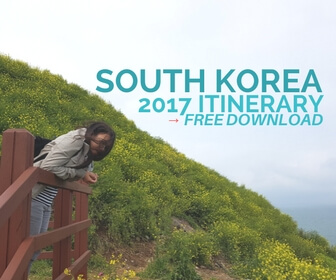 south korea itinerary free download