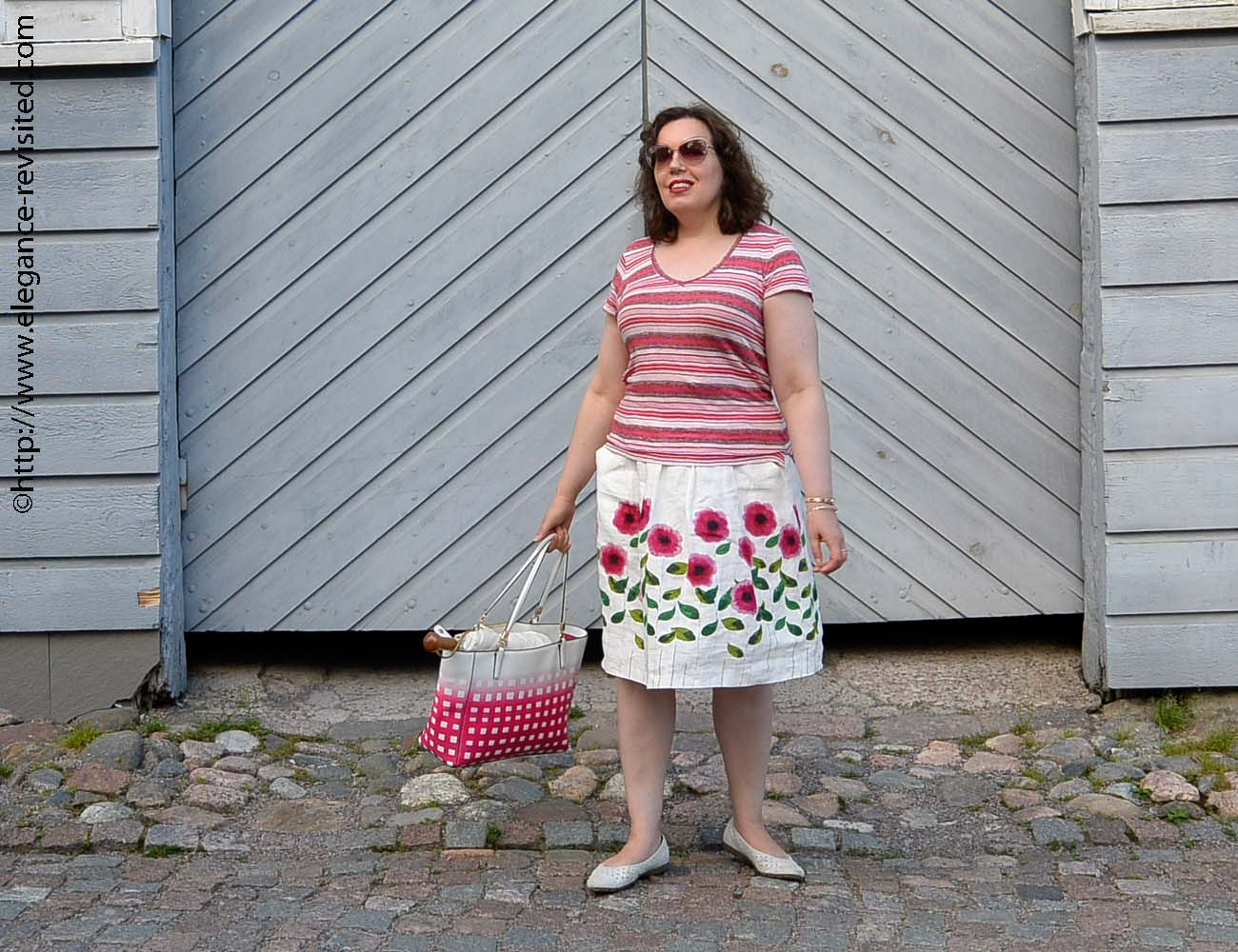mixing stripes and florals