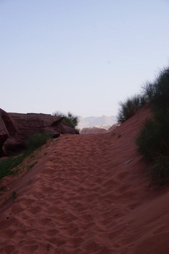 wadi rum desert sand