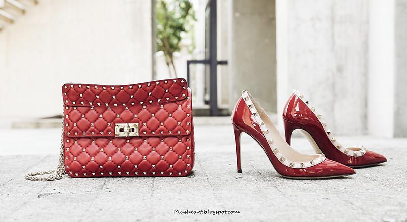 ▌那些年,我認真買的包 ▌ Valentino Rockstud Spike Quilted Shoulder Bag,這紅色有毒! + Matchesfashion Loewe bug價
