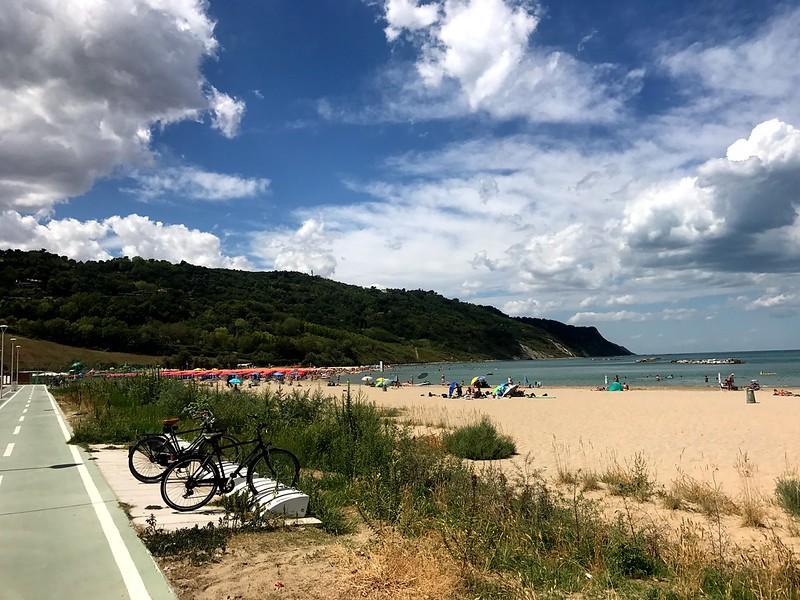 baia flaminia beach in pesaro