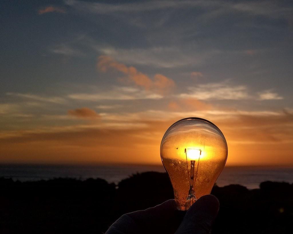 Sunset In A Lightbulb Yachats Oregon David Geitgey