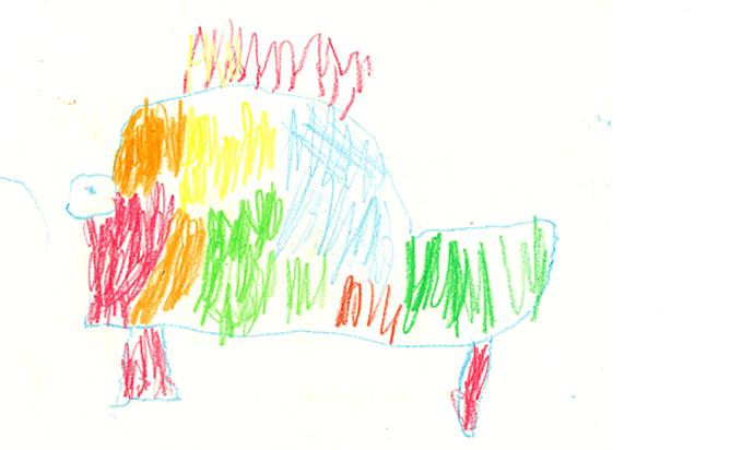 Ejemplo de dibujo a partir de los 2 años y medio.