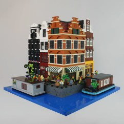 Grey And White Corner Sofa Dark L Shaped Lego Modular Buildings: Amsterdam Canal Houses | This Is ...