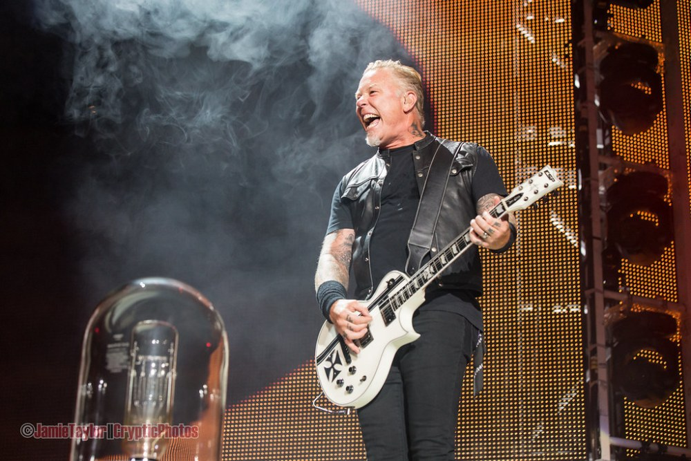 James Hetfield of Metallica at BC Place in vancouver, BC on August 14 2017