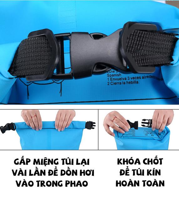 Hướng dẫn sử dụng túi phao khô chống nước Ocean Pack Cần Thơ