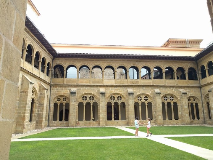 The inner backyard of the San Telmo museum is an old cloister.