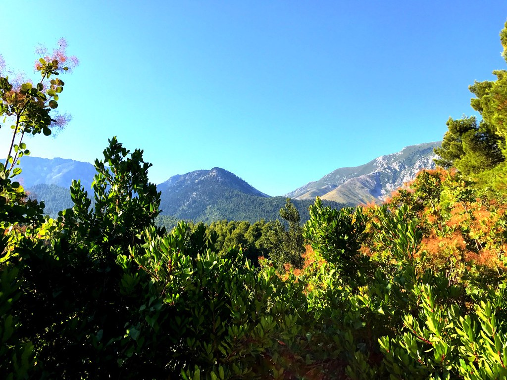 mountains of north euboea in greece
