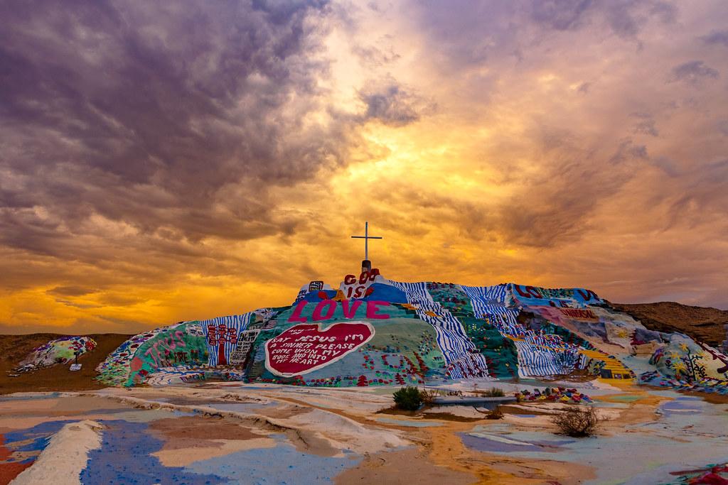 Heavenly Sunset at Salvation Mountain  Salvation