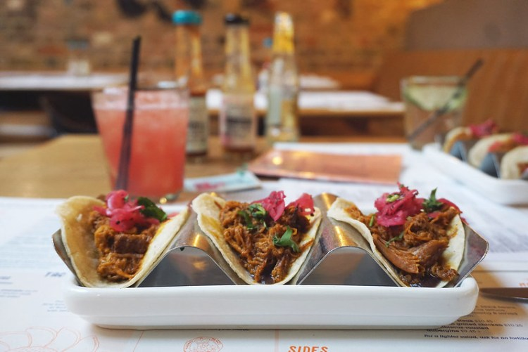 Gluten free tacos and watermelon margarita from Wahaca | Gluten free Shoreditch guide | Gluten free London | Brick Lane | Old Street | Spitalfields | Hoxton | East London