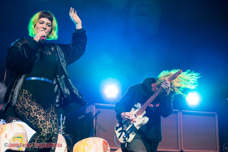 Hannah Hooper and Christian Zucconi Grouplove @ Rogers Arena in Vancouver, BC on October 8th 2017