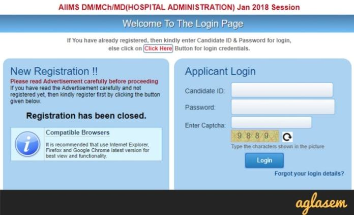 AIIMS DM MCH MHA 2018 Admit Card   Download Here