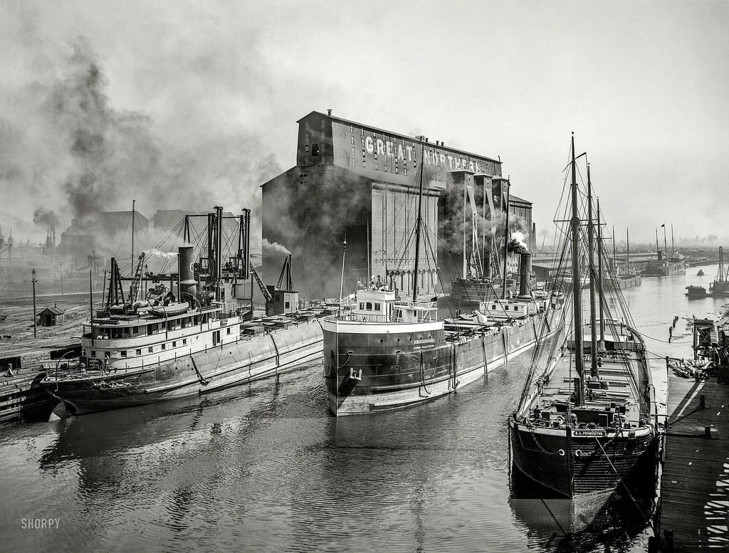 1900  loading grain  shorpycom  James Vaughan  Flickr