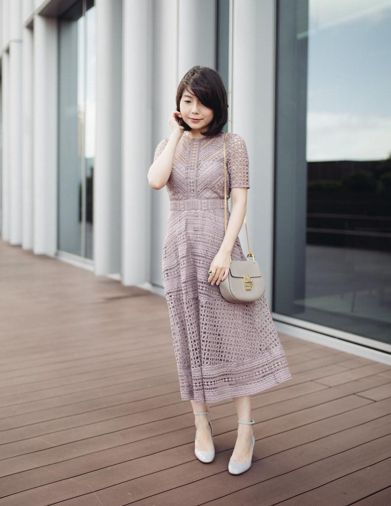 ▌Outfit ▌ 不是好媳婦洋裝:ASOS occasion lace mini dress + Valenino Tango + Chloe Drew mini