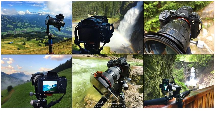 Landschapsfotografie in Oostenrijk met de Sony A9, waarbij de camera veel tijd door brengt op statief.