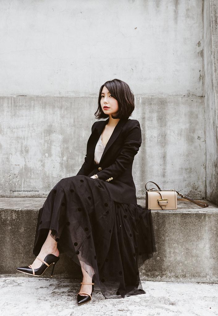 ▌Outfit ▌ 有魔力的線條:Malone Souliers Maureen高跟鞋 + Loewe Small Barcelona + Smythe外套