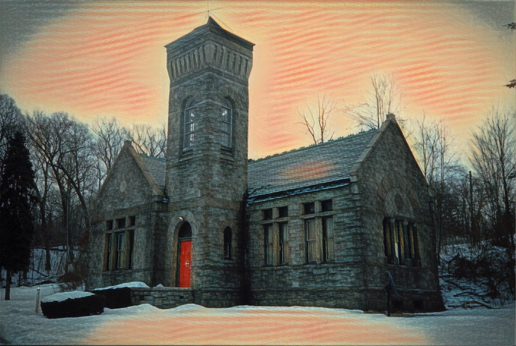 Syracuse New York  Oakwood Cemetery  Abandoned Chapel