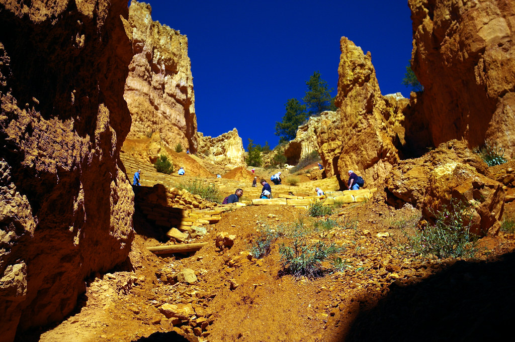 Switchbacks on the way back up. Navajo Loop Trail, Bryce Canyon National Park, October 7, 2015