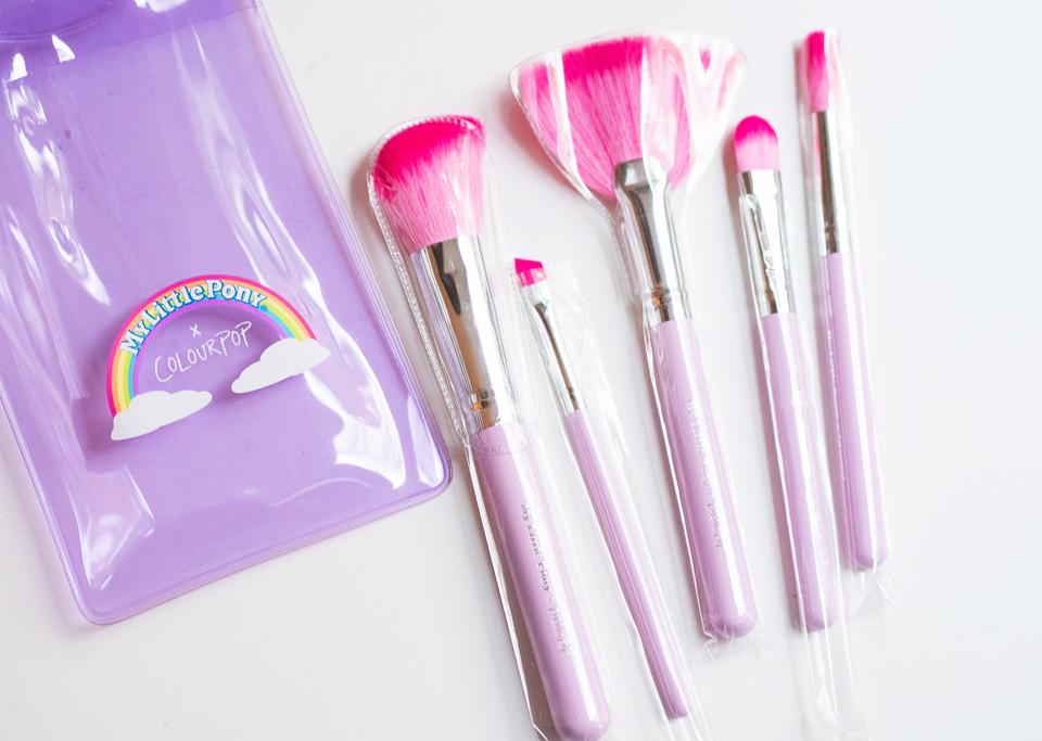 my little pony x colourpop brush set