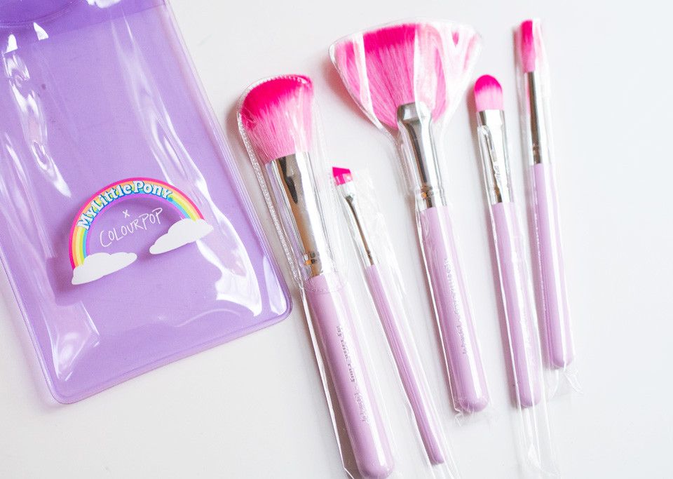 my little pony x colourpop brush set