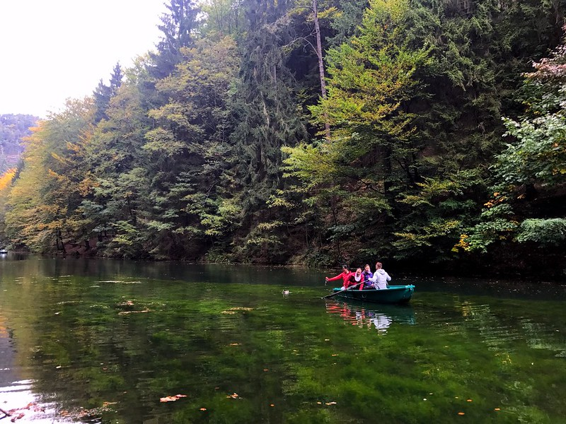 boat ride in amselsee in bastei in saxon switzerland