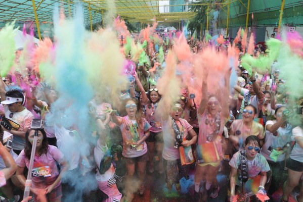 Put on your dancing shoes and switch on your celebratory mood as a not too shabby dance-and-color powder party at the Color Festival will welcome you after therun!