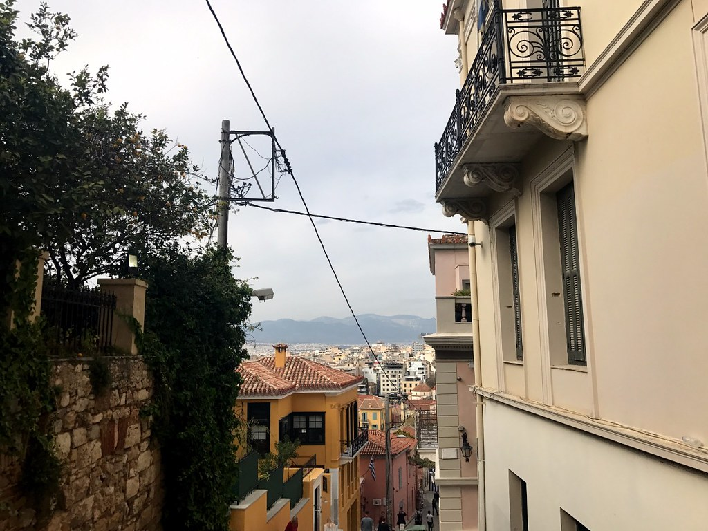 view of athens canopy from plaka
