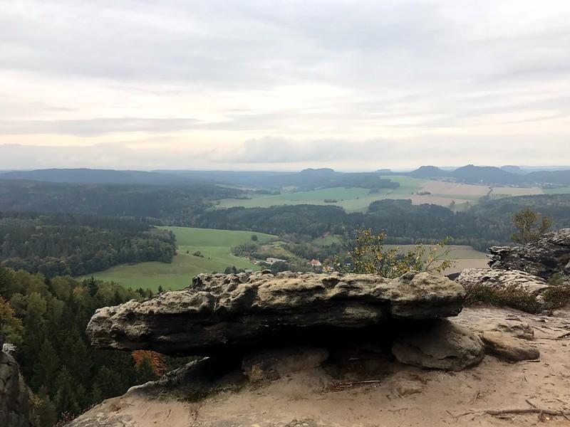 Splendid view from the top of Kleiner Zschirnstein in saxon swizterland