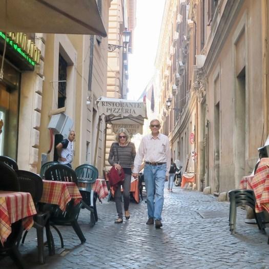 Mom and Al, walking Rome