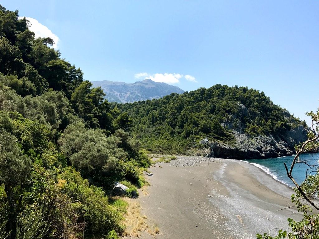 wild nature of north euboea island in greece
