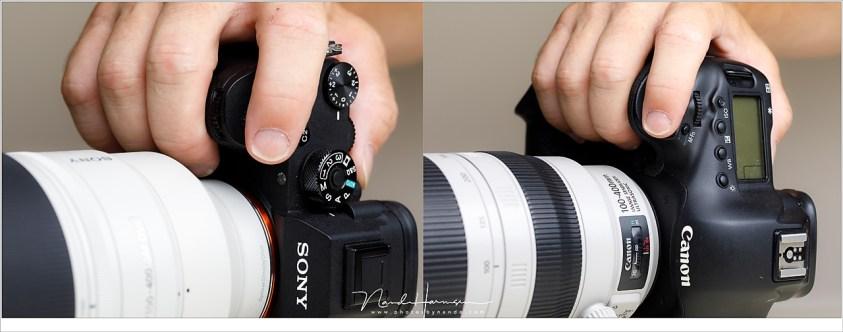 Voor actiefotografie vind ik ergonomie erg belangrijk. De ergonomie is bij de Sony A9 niet optimaal