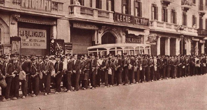 Mozos de Escuadra detenidos por su participación en el golpe de Estado del 6 de octubre de 193