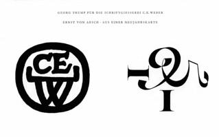 Georg Trump: C. E. Weber (type foundry); Ernst von Aesch