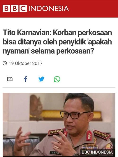 Tito Karnavian Apakah Nyaman Selama Perkosaan