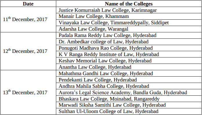 TS LAWCET Counselling 2018