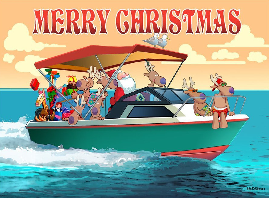 Merry Christmas – Boat Christmas – Santa Nautical Delivery
